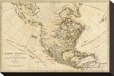 North America, As Divided amongst the European Powers, c.1776 Stretched Canvas Print by Robert Sayer