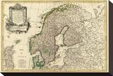 Suede, Danemarck et Norwege, c.1762 Stretched Canvas Print by Jean Janvier