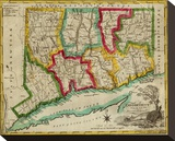 State of Connecticut, c.1827 Stretched Canvas Print by Amos Doolittle
