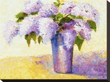Brient's Lilacs I Stretched Canvas Print by Gail Wells