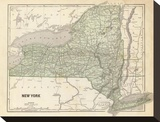 New York, c.1845 Stretched Canvas Print by Sidney E. Morse