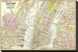 New York, Brooklyn, Jersey City, c.1891 Stretched Canvas Print by Frederick W. Beers