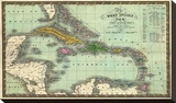 West Indies, c.1831 Stretched Canvas Print by Samuel Augustus Mitchell