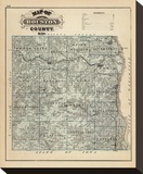 Map of Houston County, Minnesota, c.1874 Stretched Canvas Print by A. T. Andreas
