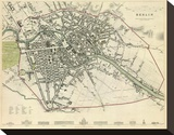 Berlin, Germany, c.1833 Stretched Canvas Print