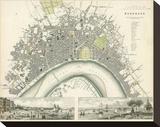 Bordeaux, France, c.1832 Stretched Canvas Print