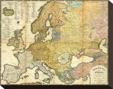 Ethnographische Karte von Europa, c.1847 Stretched Canvas Print by Heinrich Berghaus