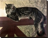 Cat on the Balustrade Stretched Canvas Print by Théophile Alexandre Steinlen