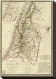 Palestine sous la Domination Romaine, c.1828 Stretched Canvas Print by Adrien Hubert Brue