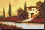Lungo Il Fiume Tra I Papaveri Stretched Canvas Print by  Furtesen