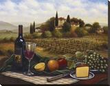 Terrace at Chianti Reproduction transférée sur toile par Joe Sambataro