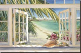 Room with a View Stretched Canvas Print by Kathleen Denis