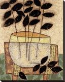 Vase de feuillesI Toile tendue sur châssis par Penny Feder