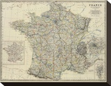France, c.1861 Stretched Canvas Print by Alexander Keith Johnston