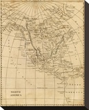 North America, c.1812 Stretched Canvas Print by Aaron Arrowsmith