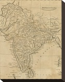 Hindoostan, c.1812 Stretched Canvas Print by Aaron Arrowsmith