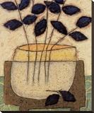 Vase de feuillesII Toile tendue sur châssis par Penny Feder