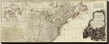 New Map of North America, with the West India Islands (Northern section), c.1786 Stretched Canvas Print by Thomas Pownall