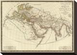 Monde Connu des Anciens, c.1821 Stretched Canvas Print by Adrien Hubert Brue
