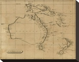 Australasia, c.1812 Stretched Canvas Print by Aaron Arrowsmith