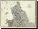 England, North Wales, c.1861 Stretched Canvas Print by Alexander Keith Johnston