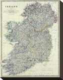 Ireland, c.1861 Stretched Canvas Print by Alexander Keith Johnston