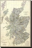 Composite: Scotland, c.1861 Stretched Canvas Print by Alexander Keith Johnston