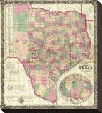 The State of Texas, c.1867 Stretched Canvas Print by Jacob De Cordova