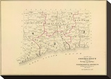 Connecticut: Congressional Districts, c.1893 Stretched Canvas Print