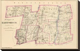 Connecticut: Hartford County North, c.1893 Stretched Canvas Print
