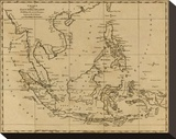 East India Islands, c.1812 Stretched Canvas Print by Aaron Arrowsmith