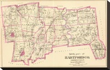 Connecticut: Hartford County South, c.1893 Stretched Canvas Print