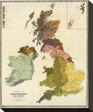 Ethnographic, Great Britain, Ireland, c.1856 Stretched Canvas Print by Gustaf Kombst