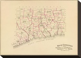 Connecticut: Senatorial districts, c.1893 Stretched Canvas Print