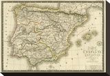 Espagne Ancienne, c.1827 Stretched Canvas Print by Adrien Hubert Brue