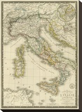 Italie Ancienne, c.1828 Stretched Canvas Print by Adrien Hubert Brue