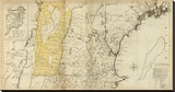 The Provinces of Massachusetts Bay and New Hampshire, Northern, c.1776 Stretched Canvas Print by Thomas Jefferys