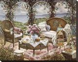 Afternoon Tea Impressão em tela esticada por Janet Kruskamp