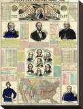 The National Political Chart, Civil War, c.1861 Stretched Canvas Print by H. H. Lloyd