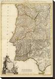 Composite: Portugal, Algarve, c.1780 Stretched Canvas Print by Giovanni Antonio Bartolomeo Rizzi Zannoni