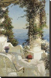 Positano Seascape Stretched Canvas Print by Vitali Bondarenko