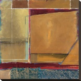 Ode To Diebenkorn 467 Stretched Canvas Print by  Fischer & Warnica
