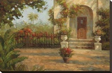 Santiago's Courtyard Stretched Canvas Print by Enrique Bolo