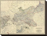 Prussia, c.1861 Stretched Canvas Print by Alexander Keith Johnston