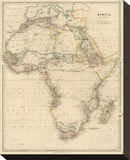 Africa, c.1834 Stretched Canvas Print by John Arrowsmith