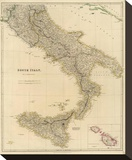 Southern Italy, c.1832 Stretched Canvas Print by John Arrowsmith