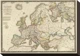 L'Europe sous l'Empire de Charlemagne, c.1826 Stretched Canvas Print by Adrien Hubert Brue