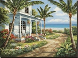 Summer House I Stretched Canvas Print by Sung Kim