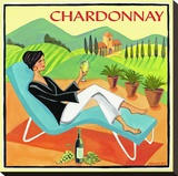 Chardonnay Stretched Canvas Print by Jennifer Brinley