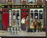Irish Pub Stretched Canvas Print by Suzanne Etienne